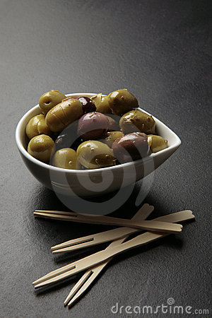 Olives tapas snack
