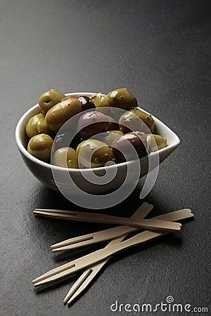 Olives tapas snack