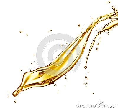 Oljefärgstänk