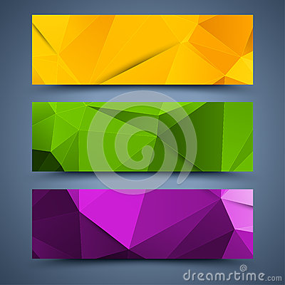 Сolor banners templates. Abstract backgrounds Vector Illustration