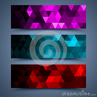 Free Сolor Banners Templates. Abstract Backgrounds Royalty Free Stock Photo - 35180645