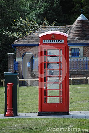 An Ols English Telephone Box