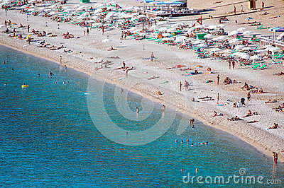 Oludeniz beach, Fethiye Mugla Editorial Stock Photo