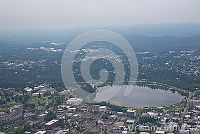 Olympia Washington Aerial View of Capital Building