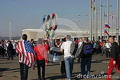 Olympiad of Sochi-2014 Editorial Stock Photo