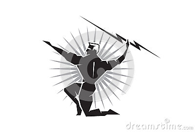 Olympian Zeus Throwing A Bolt Of Lightning Royalty Free ...