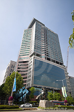 Olympic Avenue in Seoul Editorial Stock Image
