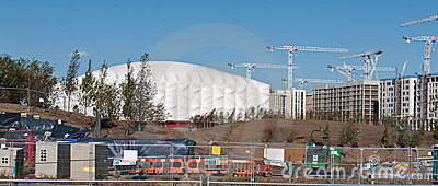 Olympic Basketball Arena under construction, Editorial Stock Photo
