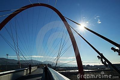 Olympic bridge, Turin, Italy