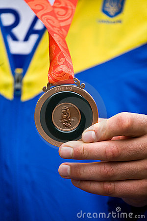 Olympic bronze medal in Beijing Editorial Stock Photo