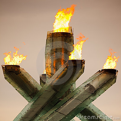 Olympic Cauldron for Vancouver 2010 Winter Games Editorial Photo