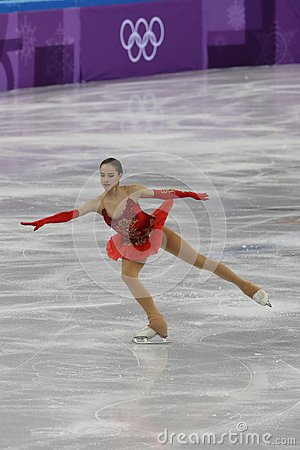 Free Olympic Champion Alina Zagitova Of Olympic Athlete From Russia Performs In The Team Event Ladies Single Skating Free Skating Royalty Free Stock Photos - 110596948