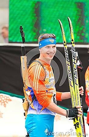 Olympic champion Evgeny Ustyugov Editorial Stock Image