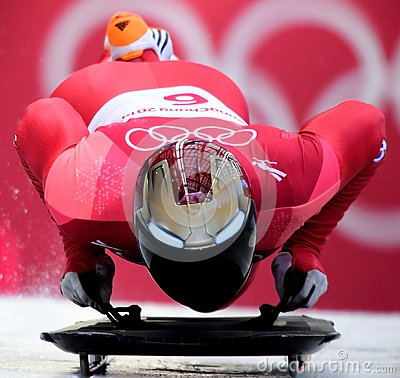 Free Olympic Champion  Sungbin Yun Of South Korea Competes In The Skeleton Men Official Training Heat At The 2018 Winter Olympics Royalty Free Stock Image - 111997406