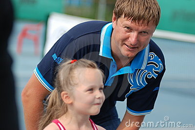 Olympic champion Yevgeny Kafelnikov tennesist. Editorial Stock Image