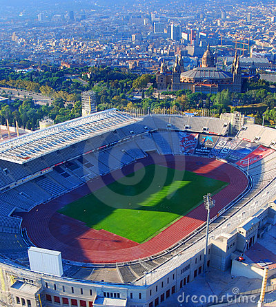 Olympic city Barcelona Editorial Stock Photo