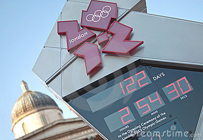 Olympic countdown clock Editorial Photography