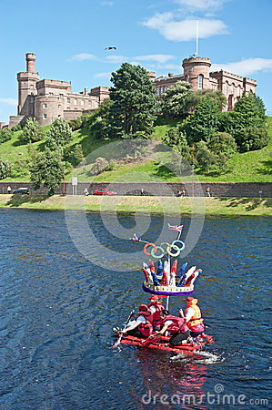Olympic Crown passing Inverness Castle ! Editorial Image