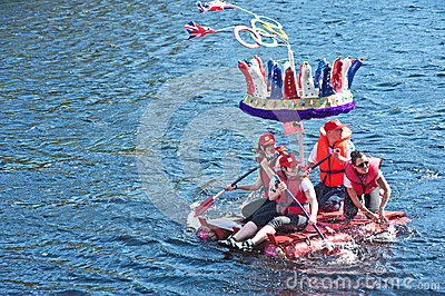 Olympic Crown on River Ness Editorial Image