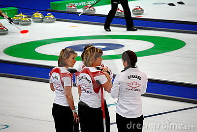 Olympic Curling 2010 Editorial Photography