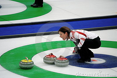 Olympic Curling 2010 Editorial Stock Photo