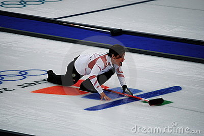 Olympic Curling 2010 Editorial Stock Image