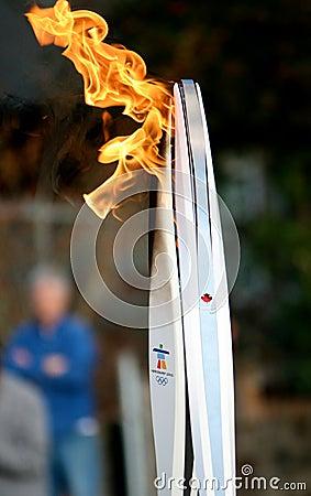 Olympic facklor Redaktionell Fotografering för Bildbyråer