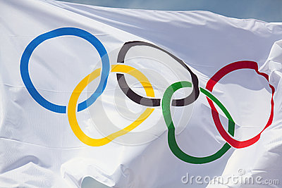 Olympic flag Editorial Photography