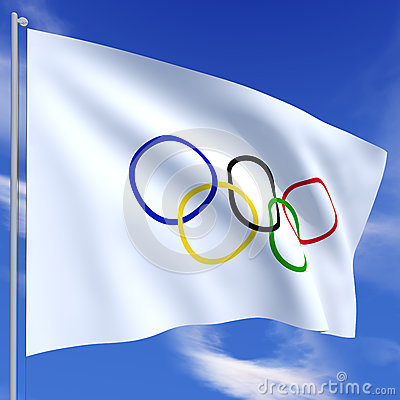 Olympic flag Editorial Stock Image
