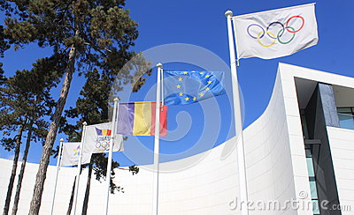 Olympic flag Editorial Stock Photo