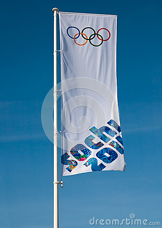 Olympic flag Editorial Image
