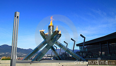 Olympic Flame 2010 Vancouver Editorial Photo