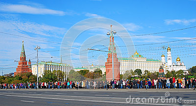 Olympic flame arrival to Moscow Editorial Photography