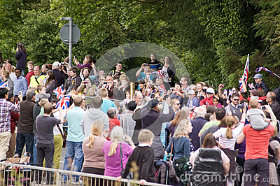 Olympic Flame in Basingstoke Editorial Photography