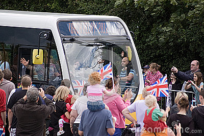 Olympic Flame reaches Basingstoke Editorial Photo