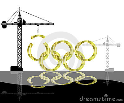 Olympic games Construction Editorial Photography