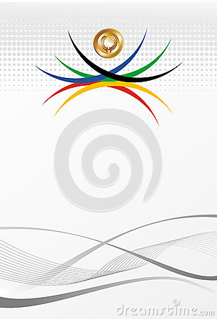 Olympic games gold medal abstract background