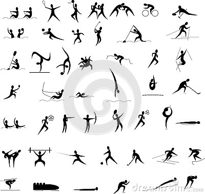 Olympic games icon set