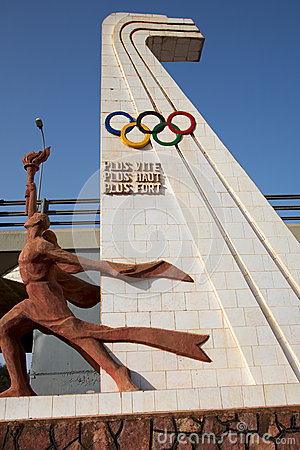 Olympic games sculpture Editorial Image