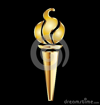 Olympic gold torch
