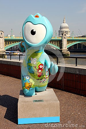Olympic mascot Editorial Photography