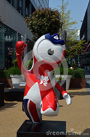 Olympic Mascot Wenlock Editorial Stock Photo