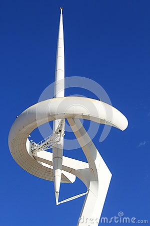 Olympic park in Barcelona Editorial Image
