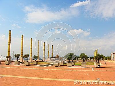 Olympic park in Barcelona