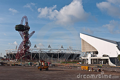 Olympic Park with Orbit Tower and Stadium Editorial Stock Image