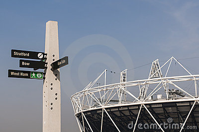 Olympic Park sign post Editorial Photo