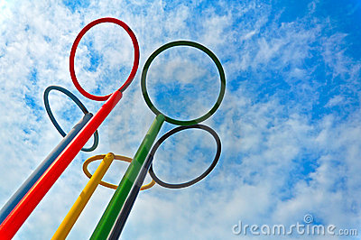 Olympic rings Editorial Stock Image
