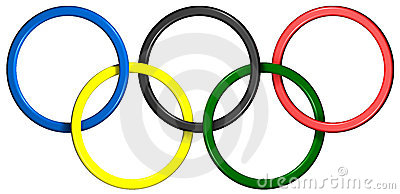Olympic Rings Editorial Image