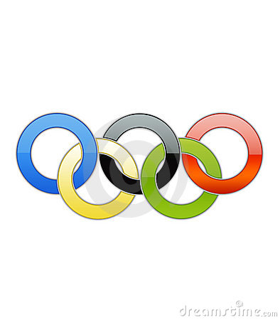 Olympic Rings Isolated Editorial Photo