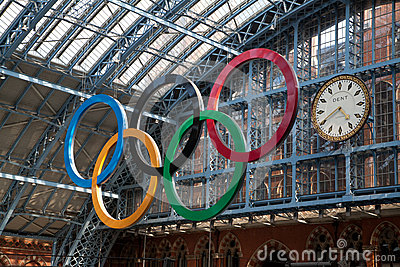Olympic Rings London 2012 Editorial Stock Photo